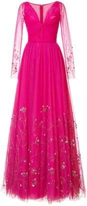 Carolina Herrera embellished tulle evening dress