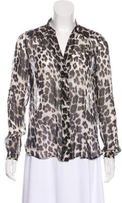 Diane von Furstenberg Silk Animal Print Blouse
