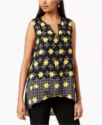 Alfani Printed High-Low Top, Created for Macy's