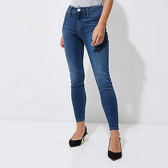River Island Womens Petite mid blue wash Molly skinny jeggings