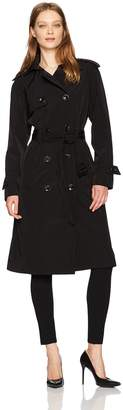 London Fog Women's Long Midi Trench Coat