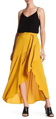 Know One Cares Solid Ruffle Wrap Skirt $48 thestylecure.com