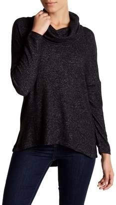Susina Long Sleeve Fleece Cowl Neck Pullover (Petite)