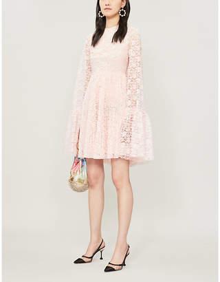 Huishan Zhang Amelia cape-panel lace mini dress