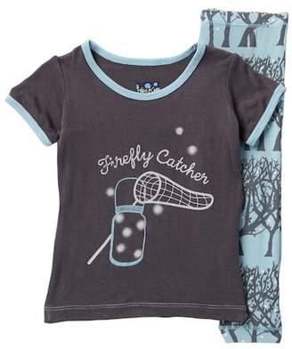 Kickee Pants Printed Pond Fireflies Short Sleeve Pajama Set (Baby, Toddler, Little Boys, & Big Boys)