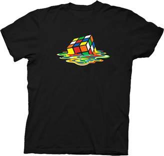 Theory Rubik's Cube Melting Sheldon Cooper The Big Bang Black T-shirt (Adult)