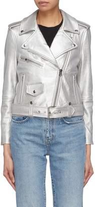 Current/Elliott 'The Shaina' metallic leather biker jacket