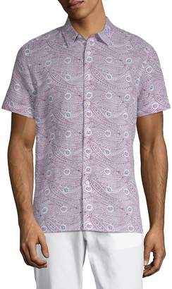 Perry Ellis Men's Paisley-Print Button-Down Shirt