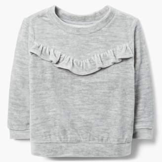 Gymboree Ruffle Velour Sweatshirt