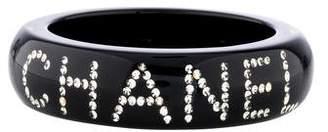 Chanel Resin & Crystal Logo Bangle