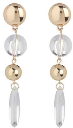 Ettika Clear Teardrop Dangle Earrings