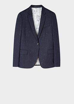 Paul Smith Women's Navy Flecked Slub Wool-Blend Blazer