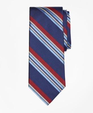 Brooks Brothers Multi-Textured Sidewheeler Stripe Tie