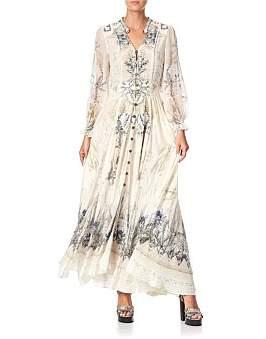 Camilla Shirred Waist Dress W/Split