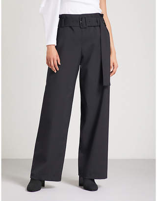 REJINA PYO Ava wide wool-crepe trousers
