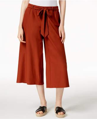 Eileen Fisher Washable Crepe Wide-Leg Capri Pants, Regular & Petite