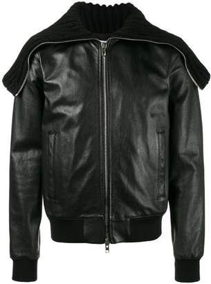 Givenchy Oversized collar leather jacket