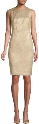 Calvin Klein Brocade Sheath Dress
