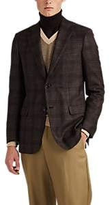 Brioni Men's Ravello Plaid Flannel Two-Button Sportcoat - Brown