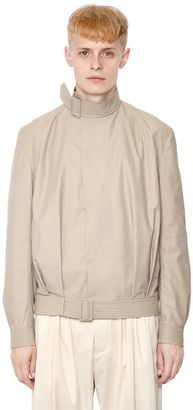 Belted Techno & Cotton Blend Jacket $1,215 thestylecure.com