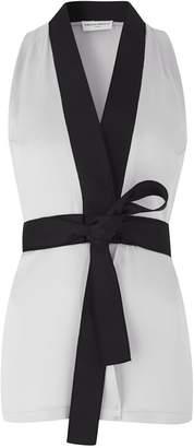 Amanda Wakeley Light Silver Wrap Top