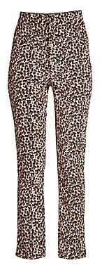 Rebecca Taylor Women's Leopard Velvet Pants