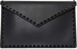 Valentino Black Garavani Tonal Rockstud Envelope Pouch