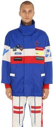 Diesel Color Block Parka Jacket W/ Patches