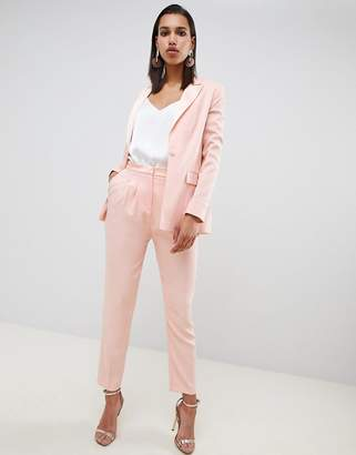 Asos Design DESIGN tailored contrast satin tapered pant co ord