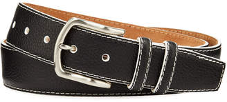 W.KLEINBERG W. Kleinberg Men's South Beach Pebbled Leather Belt