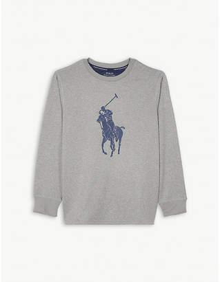 Ralph Lauren Logo marled long-sleeve T-shirt 2-7 years