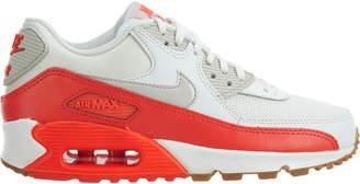 Nike 90 Essential Summit White Light Brown-Bright Crimson (W)