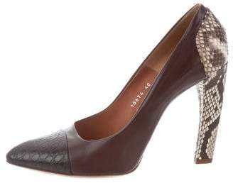 Dries Van Noten Leather Pointed-Toe Pumps