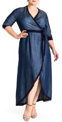 Standards & Practices Elle Wrap Maxi Dress