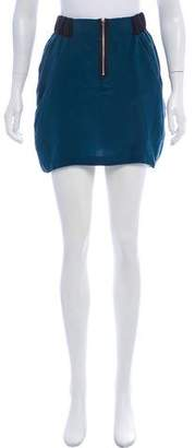 Myne Silk Mini Skirt