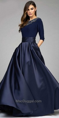 Mac Duggal Wide Belted Embellished Ball Gown $798 thestylecure.com