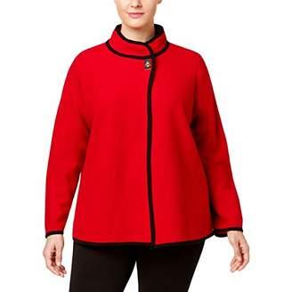 Calvin Klein Women's Plus Size L/s Short Boild Wool