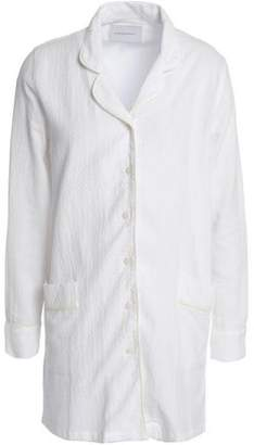 Solid & Striped Cotton-Blend Jacquard Shirt