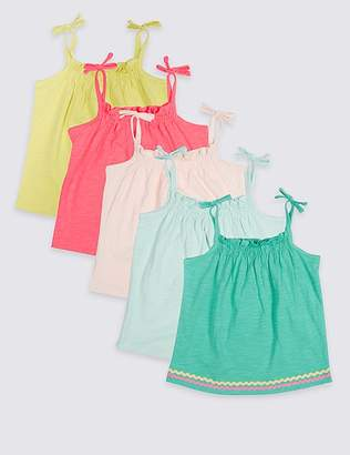 Marks and Spencer 5 Pack Vest Tops (3 Months - 7 Years)