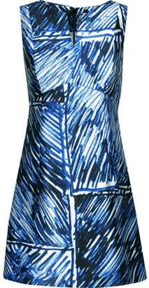 eaf654be89 Milly Printed Satin-twill Mini Dress