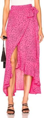 Ganni Barra Crepe Skirt