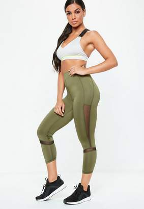 Missguided Active Khaki Cropped Legging