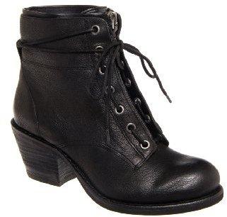 Luxury Rebel Barret Mid Heel Bootie - Black