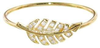 Jennifer Meyer Mini Leaf Diamond Ring