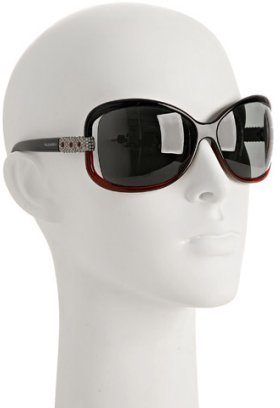 Valentino red ombré oversized wrap sunglasses