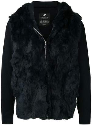 Loveless zipped fur jacket