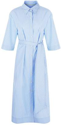 Diane von Furstenberg Striped Belted Shirt Dress