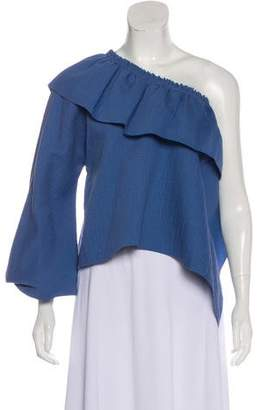 Rachel Comey Ruffled One-Shoulder Top