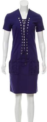 Jean Paul Gaultier Short Sleeve Mini Dress Indigo Short Sleeve Mini Dress