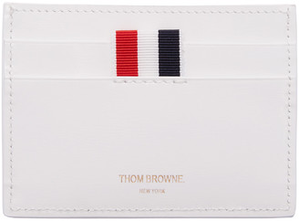 Thom Browne White Single Card Holder $360 thestylecure.com